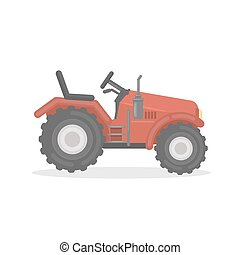 Isolated farm tractor.
