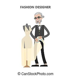 Isolated fashion designer.