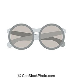 Isolated fashion glasses design