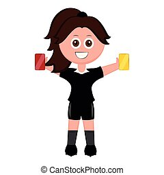 Isolated female soccer referee