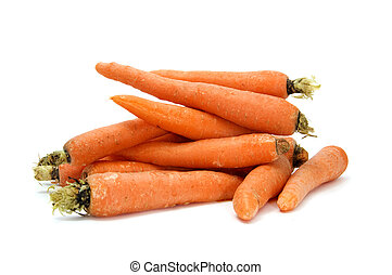 isolated  few carrots on a white background