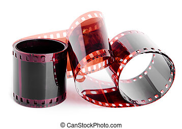 Isolated film 35mm - Roll of film on a white background