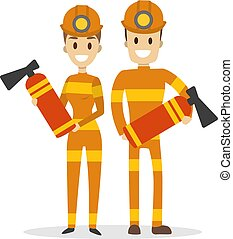Isolated fire fighters.