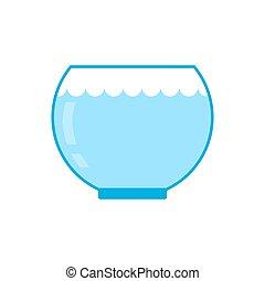 isolated., fish, arrosez verre, aquarium, fond, vaisseau,...