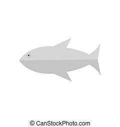 Isolated fish icon