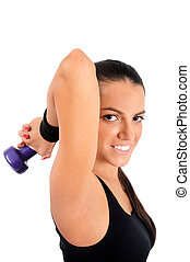 Isolated fitness woman