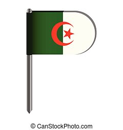 Isolated flag of Algeria