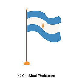 Isolated flag of Argentina