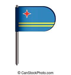 Isolated flag of Aruba