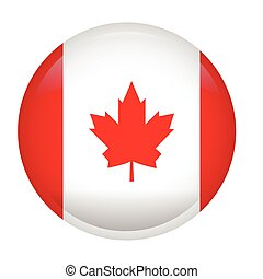 Isolated flag of Canada