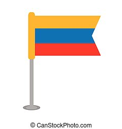Isolated flag of Colombia