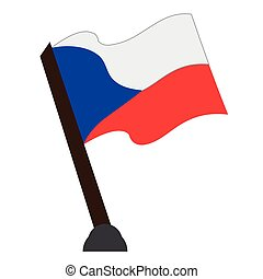Isolated flag of Czech Republic