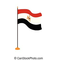 Isolated flag of Egypt