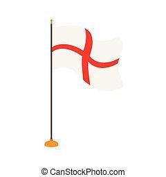 Isolated flag of England