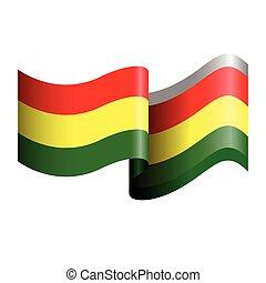 Isolated flag of Ghana