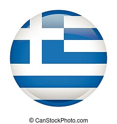 Isolated flag of Greece
