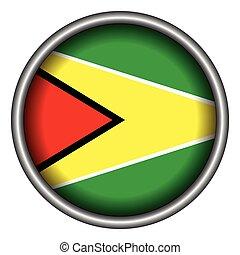 Isolated flag of Guyana