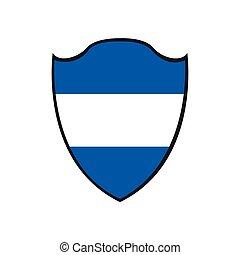 Isolated flag of Honduras