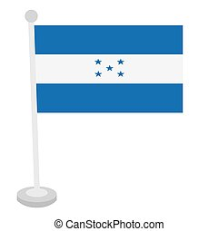 Isolated flag of Honduras
