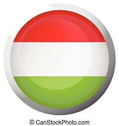 Isolated flag of Hungary