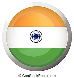 Isolated flag of India
