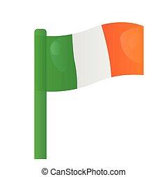 Isolated flag of Ireland