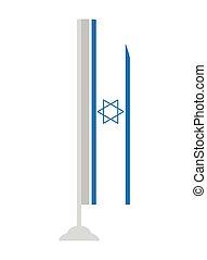 Isolated flag of Israel