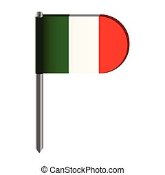 Isolated flag of Italy