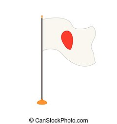 Isolated flag of Japan
