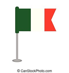 Isolated flag of Mexico