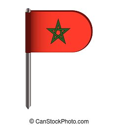 Isolated flag of Morocco