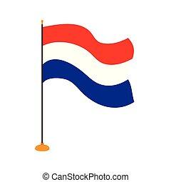 Isolated flag of Netherlands