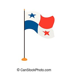 Isolated flag of Panama