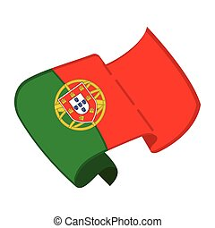 Isolated flag of Portugal