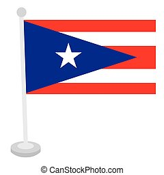 Isolated flag of Puerto Rico