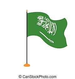 Isolated flag of Saudi Arabia
