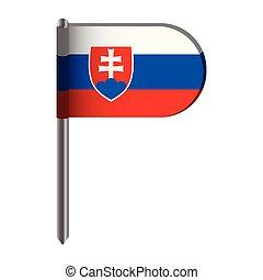 Isolated flag of Slovakia