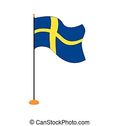 Isolated flag of Sweden