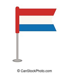 Isolated flag of the Netherlands