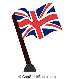 Isolated flag of the United Kingdom