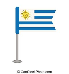 Isolated flag of Uruguay. Vector illustration design