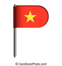 Isolated flag of Vietnam