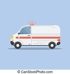 Isolated flat ambulance icon