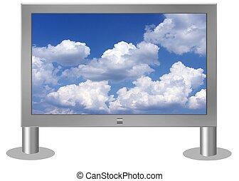 isolated flatscreen tv