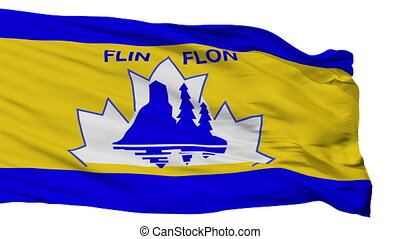 Isolated Flin Flon city flag, Canada - Flin Flon flag, city...