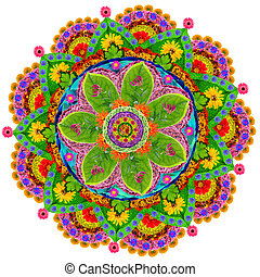 Isolated floral mandala - Mandala - spiritual and ritual ...