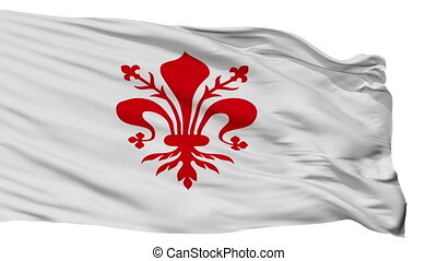 Isolated Florence city flag, Italy - Florence flag, city of...