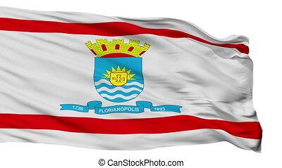 Isolated Florianopolis city flag, Brasil - Florianopolis...