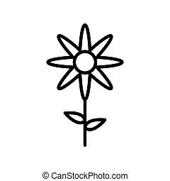 Isolated flower line style icon vector design