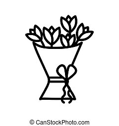 Isolated flowers line style icon vector design